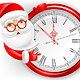 Santa Claus and Circle Clock
