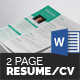 Resume/CV (2 Page) - GraphicRiver Item for Sale