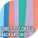10 Lines Colorful Backgrounds