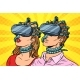 Man and Woman in Virtual Reality
