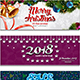 2018 Happy New Year - Happy Christmas - New Year Sale FB Covers & Post Banners