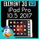 Apple iPad Pro 10.5 2017 for Element 3D - 3DOcean Item for Sale