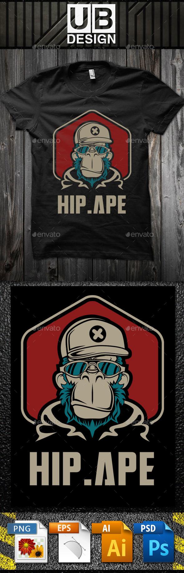 GraphicRiver Hip Ape T-Shirt Template 20975127