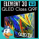 QLED Class Q9F for Element 3D - 3DOcean Item for Sale