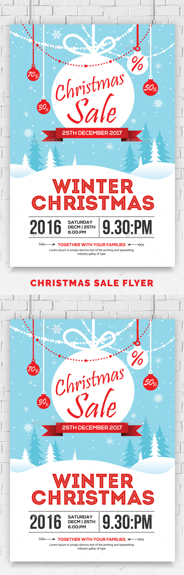 GraphicRiver Christmas Sale Flyer Psd Template 20975265