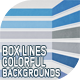10 Box Lines Colorful Backgrounds