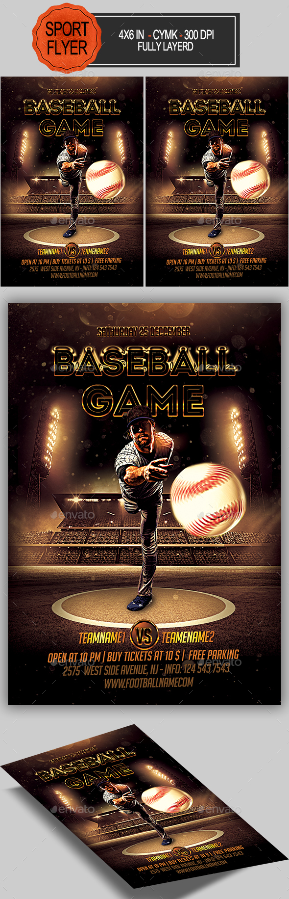 GraphicRiver Baseball Flyer 20975548