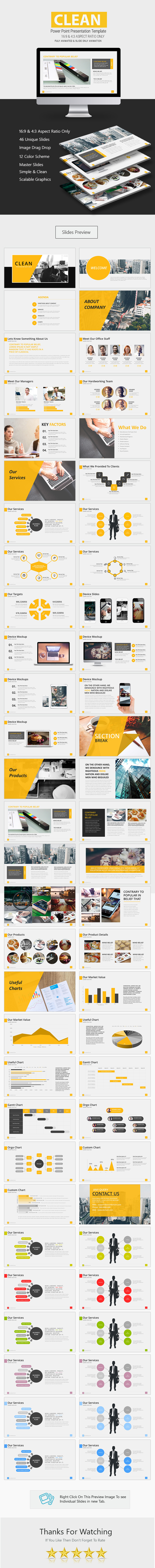 GraphicRiver Clean Premium Power Point Presentation 20975576