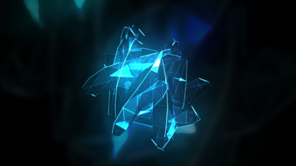 VideoHive Transforming To Music Abstract Crystal Surface 20975812