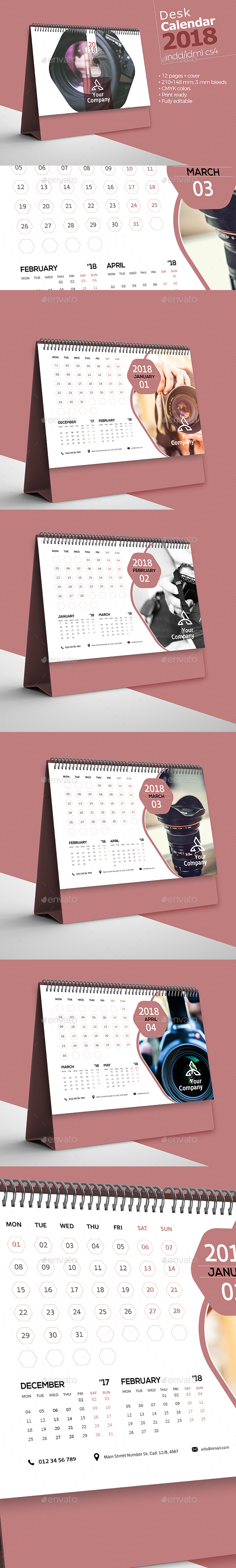GraphicRiver Desk Calendar 2018 20975816