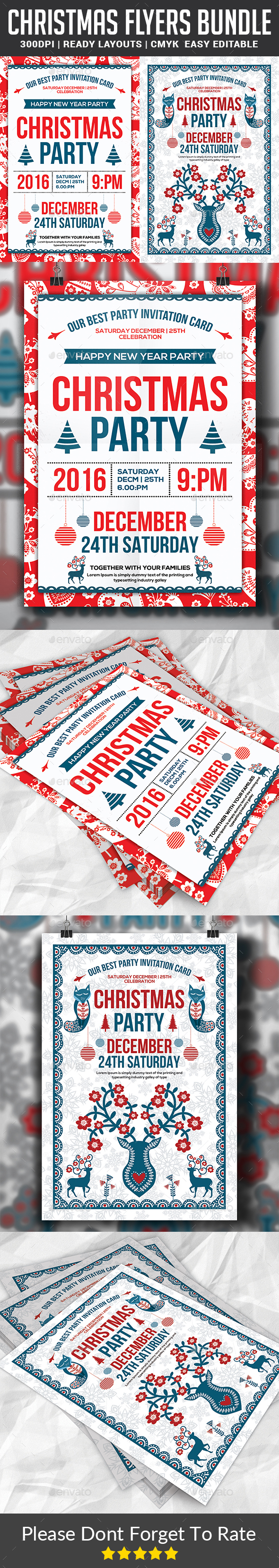 Christmas Party Flyers Bundle - Events Flyers
