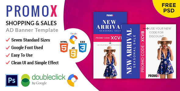 CodeCanyon Promox Shopping HTML 5 Animated Google Banner 20975837