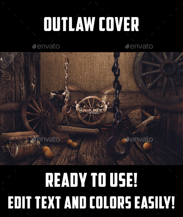 GraphicRiver Outlaw Gamer Cover PSD 20939625