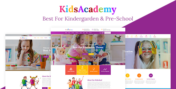 KidsAcademy – Kids, Kindergarten & Preschool WordPress Theme            nulled