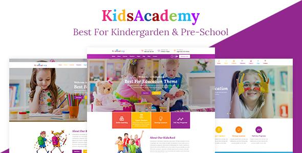 ThemeForest KidsAcademy Kids Kindergarten & Preschool WordPress Theme 20625562