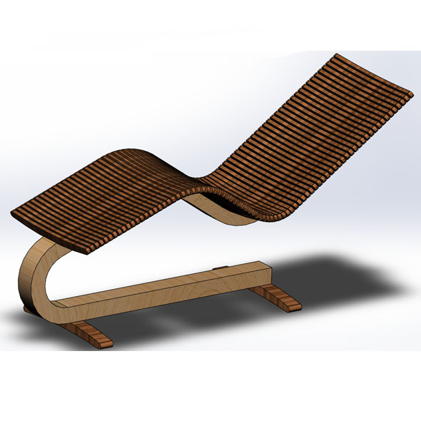 Wooden Lounger Chair - 3DOcean Item for Sale