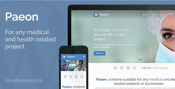 Paeon - Medical WordPress Theme - Health & Beauty Retail