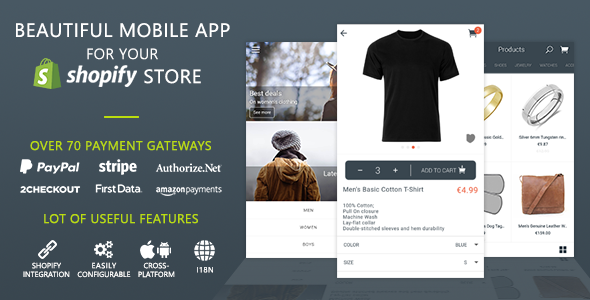 MobileFront Shopify Mobile App - CodeCanyon Item for Sale