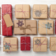 Christmas gift boxes background - PhotoDune Item for Sale