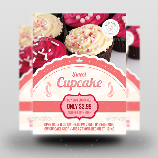 cupcake flyer template by owpictures