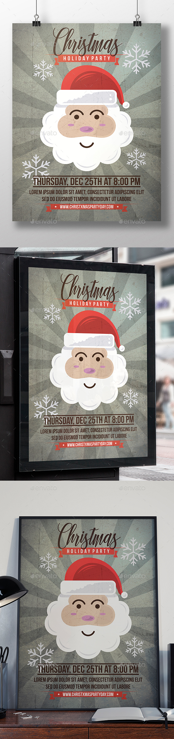 Santa Claus Flyer Template - Clubs & Parties Events