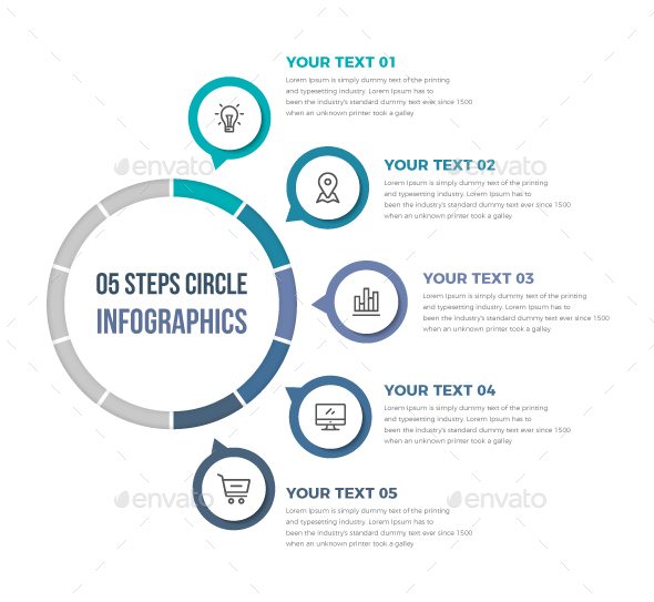 GraphicRiver Simple Circle Infographics 20976610