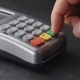 Person Pushing the Button and Swipe Credit Card Payment on Pos Terminal - VideoHive Item for Sale