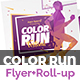 Color Run Festival Flyer & Roll-Up Banner - GraphicRiver Item for Sale