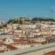 Lisbon, Portugal Skyline Towards Sao Jorge Castle