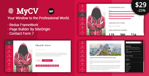 MyCV - Personal Business VCard - WP