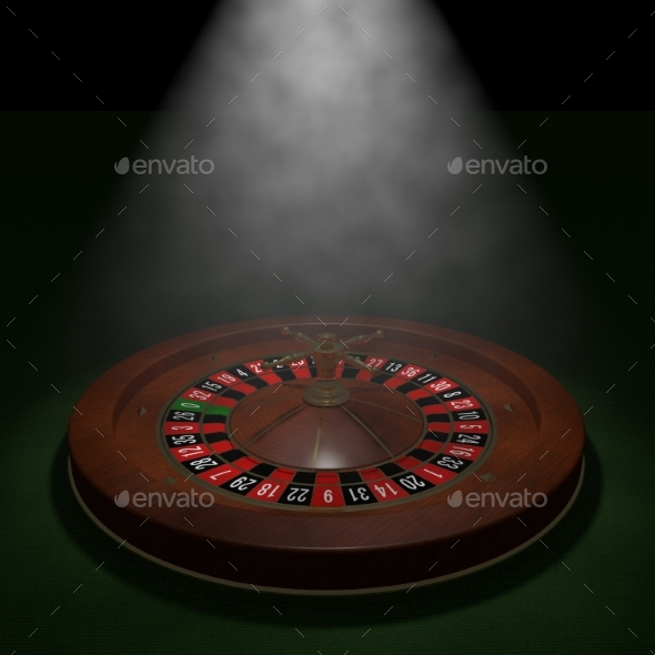 GraphicRiver Casino Roulette Wheel 3D Render 20977154