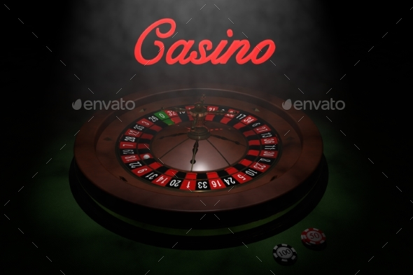 GraphicRiver Casino Roulette Wheel 3D Render 20977159