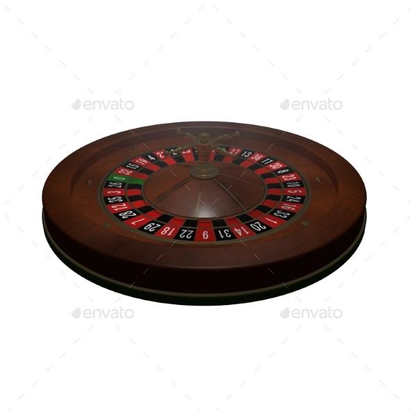 Casino Roulette Wheel. 3D Render - Objects 3D Renders