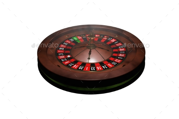 GraphicRiver Casino Roulette Wheel 3D Render 20977168
