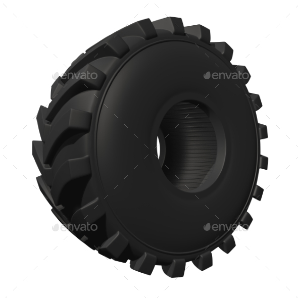 GraphicRiver Tractor Tire 3D Render 20977173