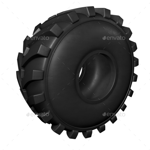 GraphicRiver Tractor Tire 3D Render 20977177
