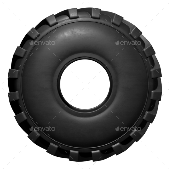 GraphicRiver Tractor Tire 3D Render 20977178