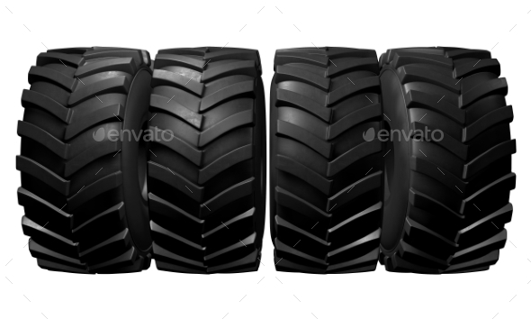 GraphicRiver Tractor Tire 3D Render 20977179