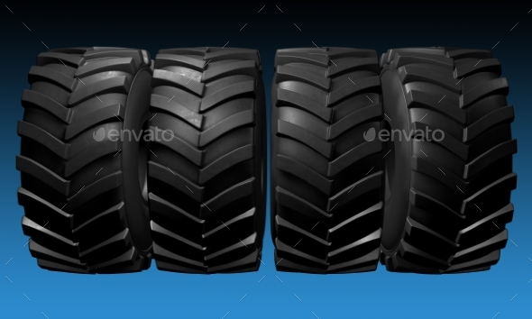 GraphicRiver Tractor Tire 3D Render 20977182
