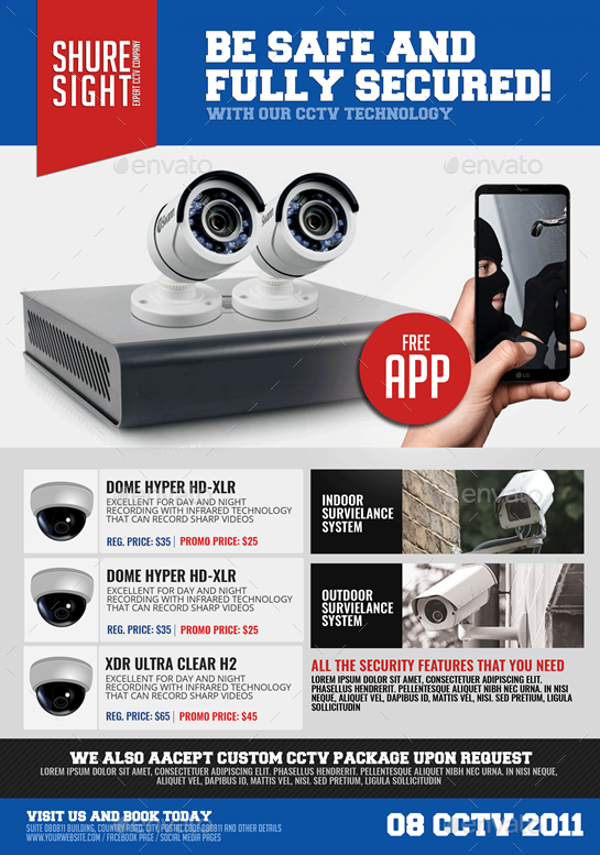 Cctv Promotional Flyer By Artchery Graphicriver