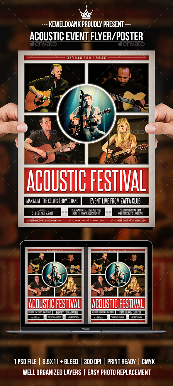 GraphicRiver Acoustic Event Flyer Poster 20977263