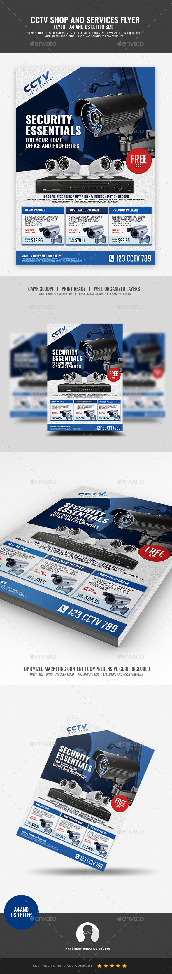 GraphicRiver CCTV Surveillance Store Flyer 20953220