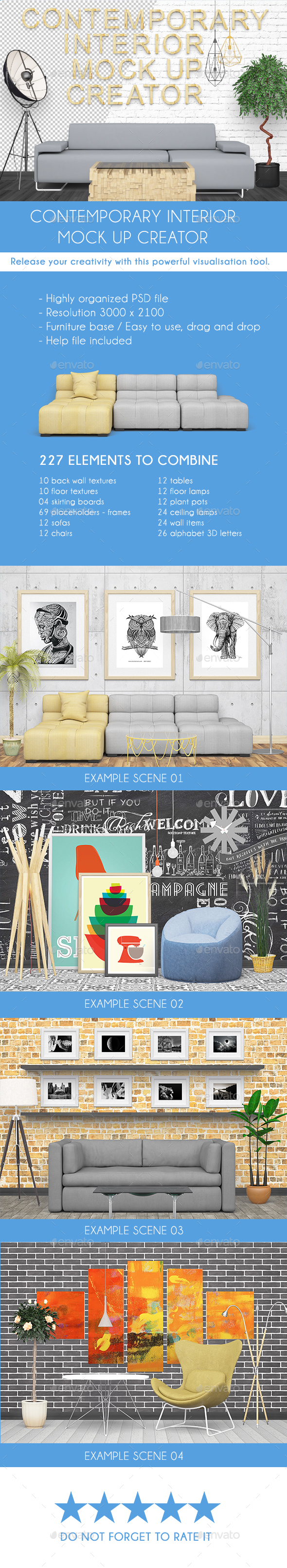 Contemporary Front Scene Generator - Product Mock-Ups Graphics