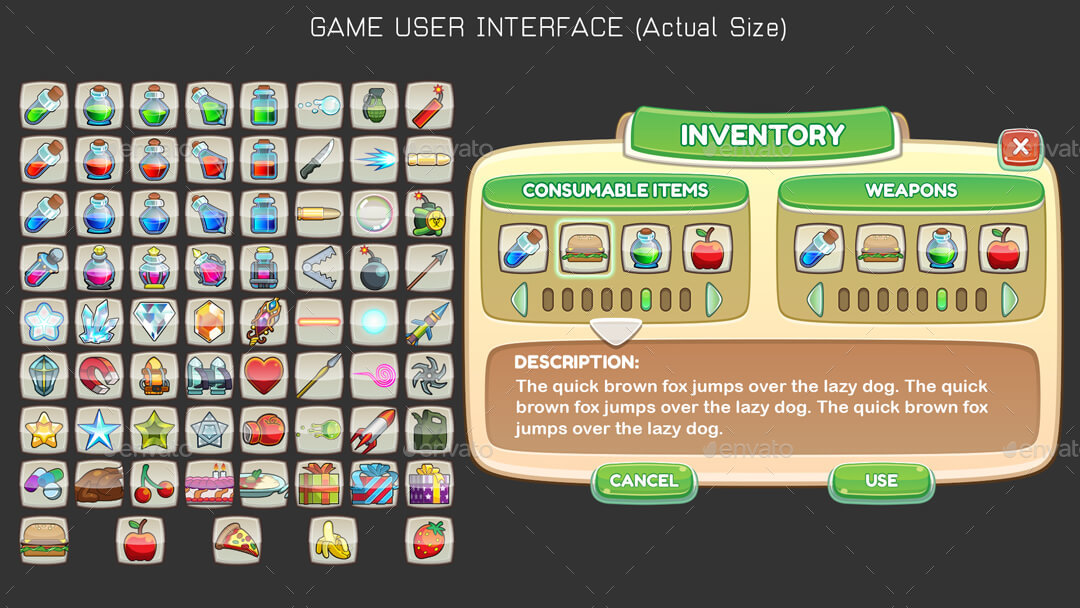 Complete Car Vector Game Kit