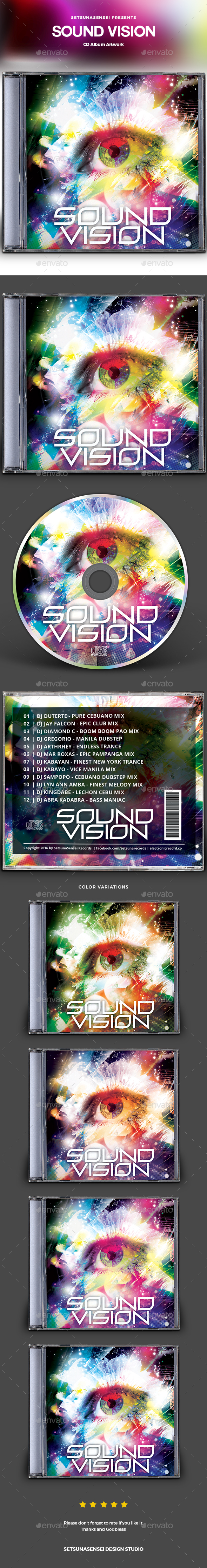 GraphicRiver Sound Vision CD Album Artwork 20977460