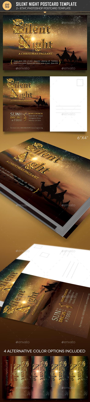 GraphicRiver Silent Night Postcard Template 20977474