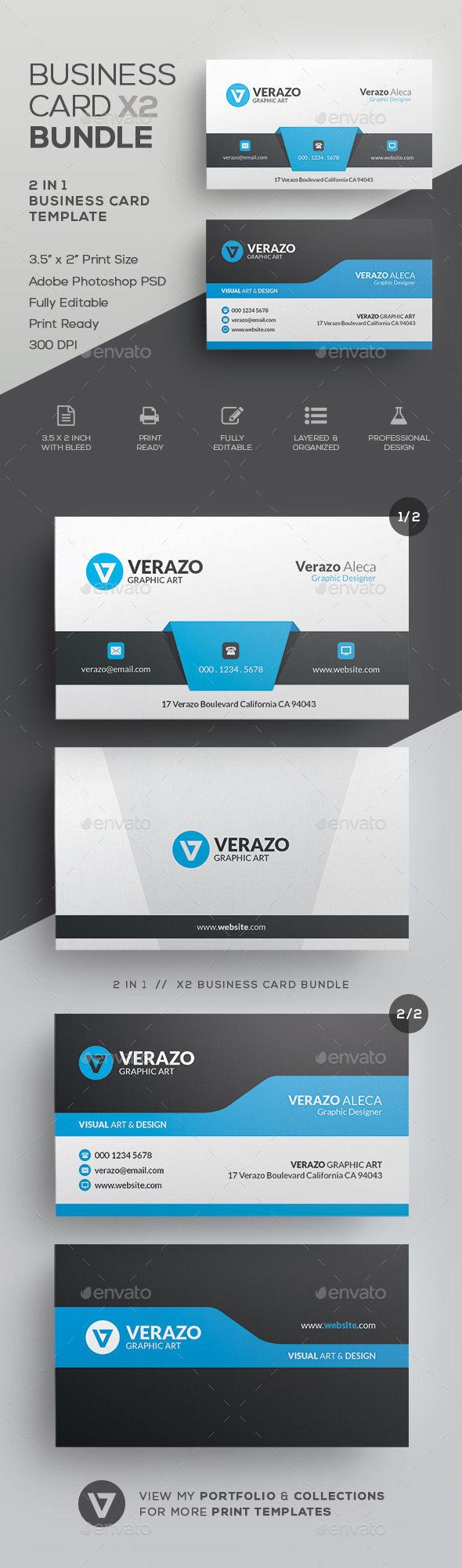 Business Card Bundle 40 - Corporate Business Cards