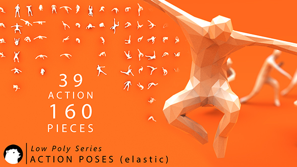 3DOcean Low Poly Series Human Action Poses Elastic 20977480
