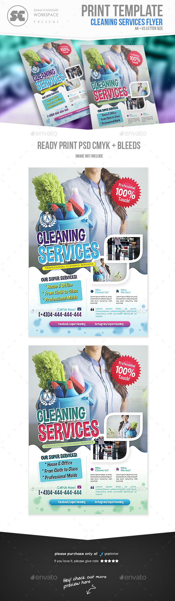 GraphicRiver Cleaning Services Flyer 20977485