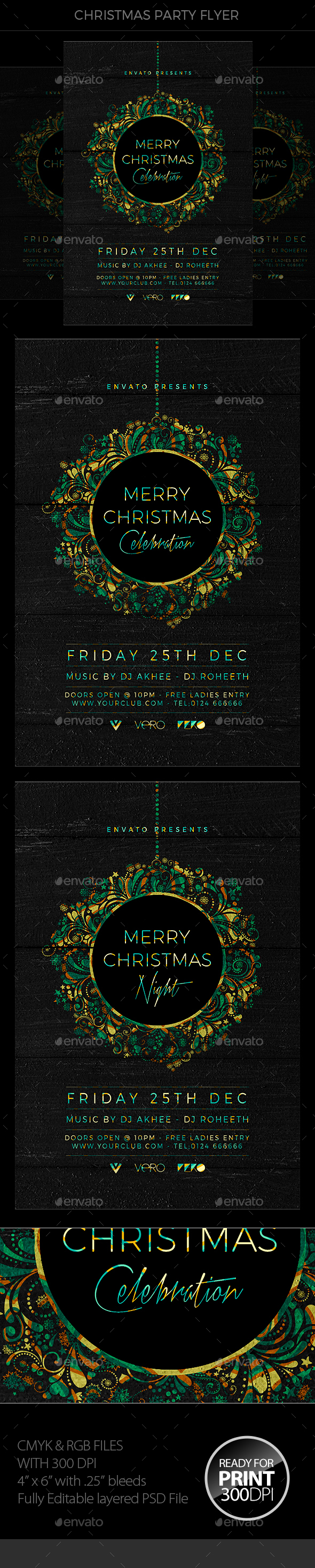 GraphicRiver Christmas Party Flyer 20977498